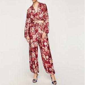 Zara | Floral Silky Jogger Trouser